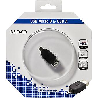 DELTACO USB adapter type A ho-type Micro B have