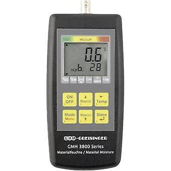 Greisinger GMH3851 Moisture meter Measuring range building moisture 0 up to 0.5 vol % Measuring range Wood moisture 0 up to 100 vol % Temperature reading
