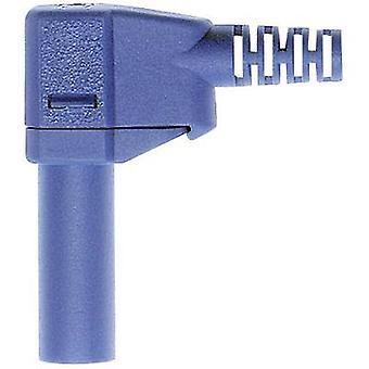 Straight blade safety plug Plug, right angle Pin diameter: 4 mm Blue
