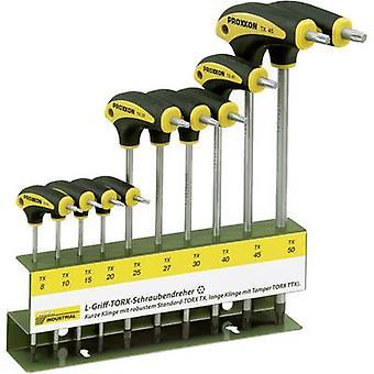 Destornillador de taller set 10 piezas del zócalo TORX TORX Industrial Proxxon® BO L-hantag, TORX BO