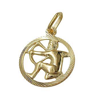 Sternzeichenanhänger Schütze gold 375 Sternzeichen, Schütze, 9 Kt GOLD