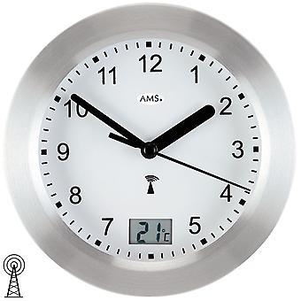 الحمام ساعة الجدار على مدار الساعة الألومنيوم الجبهة الصقيع الحمام ماء الفضة على مدار الساعة