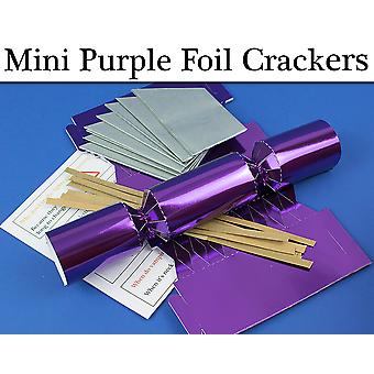 Purple Foil MINI Make & Fill Your Own Cracker Making Craft Kits & Boards