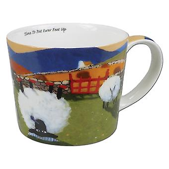 Thomas Joseph Single Mug, Time To Put Ewer Feet Up