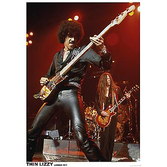 Thin Lizzy Live London Phil Lynott -London 1799 Poster Print