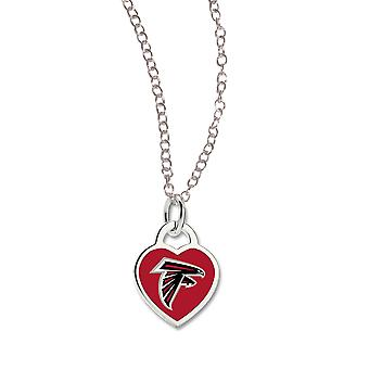 Wincraft damer hjerte halskjede - NFL Atlanta Falcons