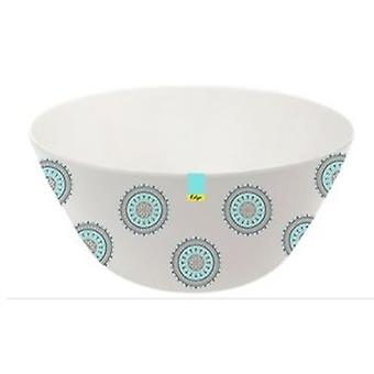 Blue Patterned Melamine Abstract Summer - Bowl 6inch Camping Kitchen