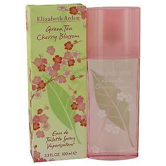 Elizabeth Arden vihreää teetä Cherry Blossom Eau de Toilette 100ml Spray