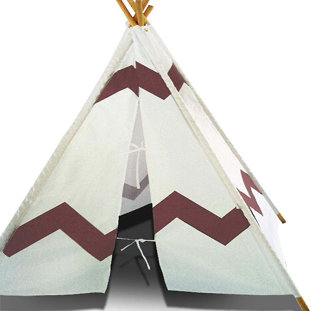 Modern Home Children's Canvas Tepee Set with Travel Case - Navajo Brown