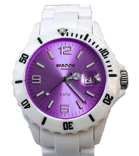 Waooh - toont MILANO 38 armband White Dial color