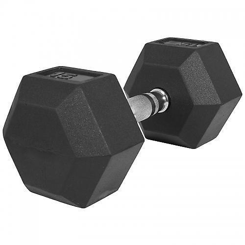 1 x  15kg Halt�re Hexagonal en Caoutchouc