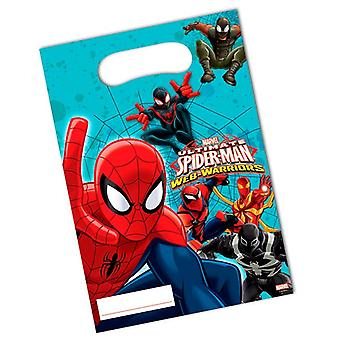 Party bags bags bag Spiderman warriors kids party birthday 6 pieces