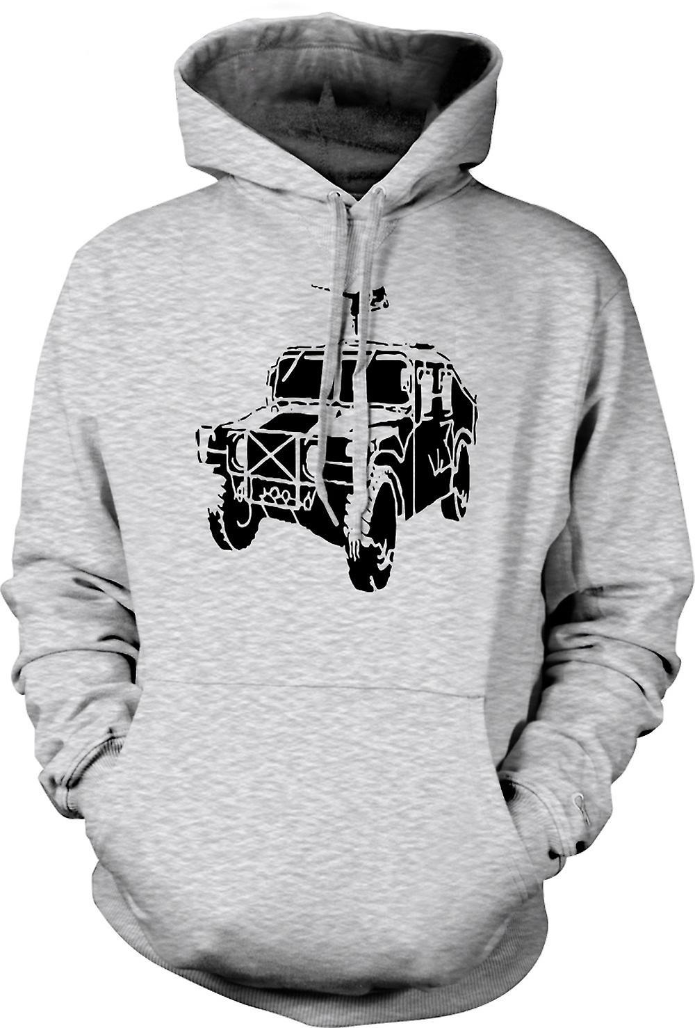Para hombre con capucha - Humvee del ejército de Estados Unidos 50 Cal - militar