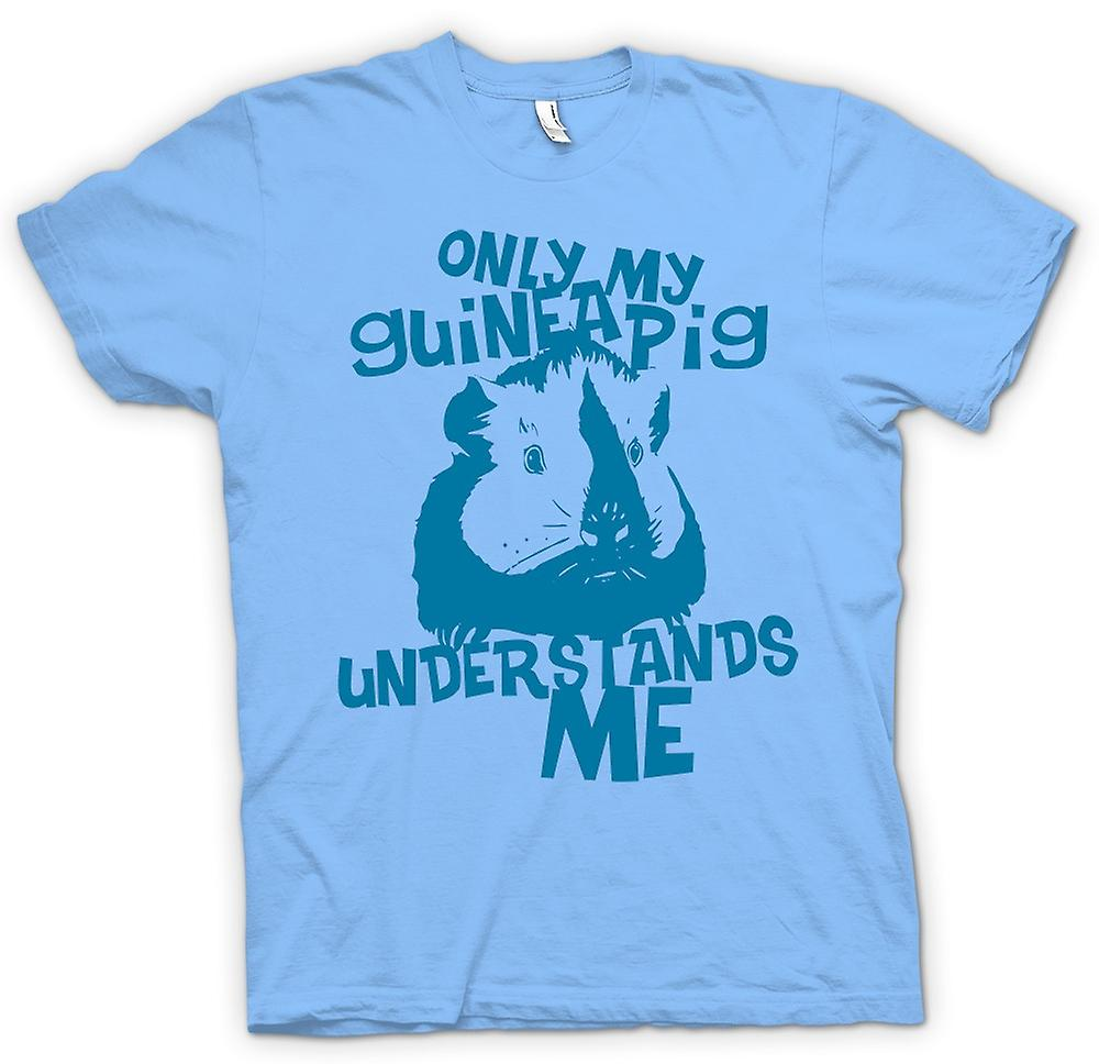 Mens T-shirt - Only My Guinea Pig Understands Me