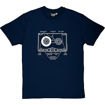 Cassette Tape Diagram Men's T-Shirt