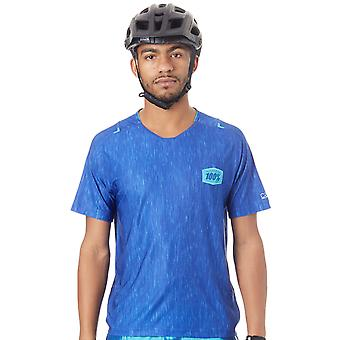 100 Percent Blue Heather 2017 Celcium Short Sleeved MTB Jersey