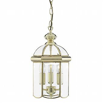 5133PB Solid Polished Brass 3 Light Lantern
