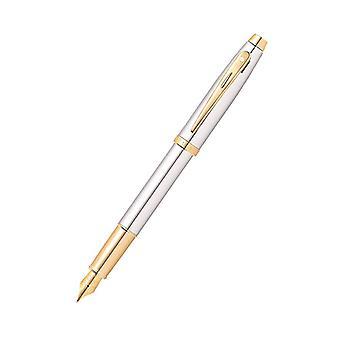 Sheaffer 100 Chrome/Gold Trim Plated Pen