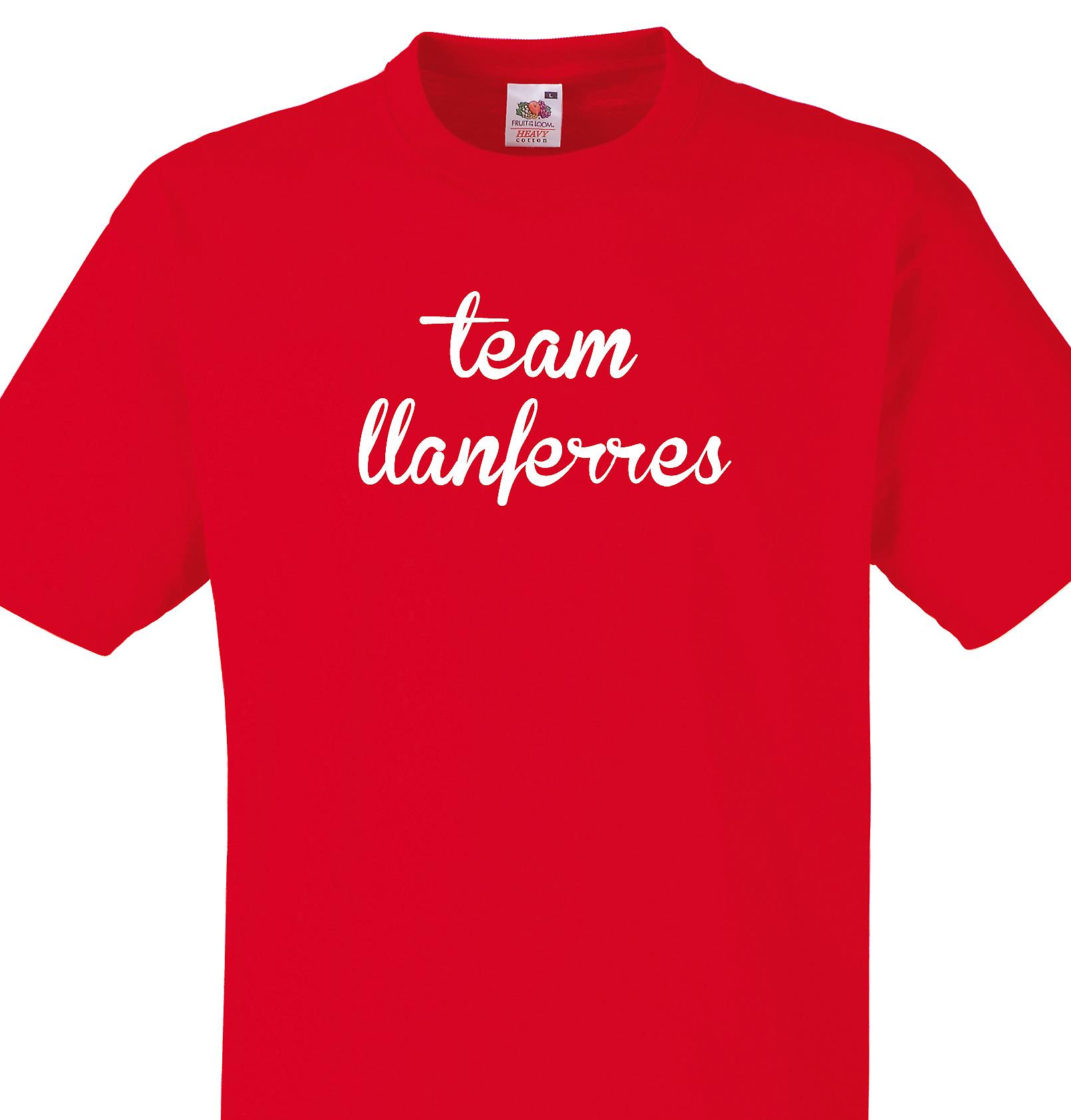 Team Llanferres Red T shirt