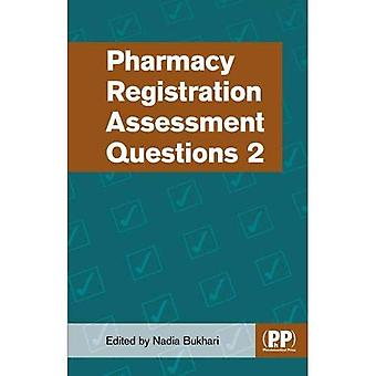 Pharmacy Registration�Assessment Questions 2