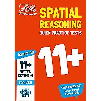 11 + Spatial resonemang snabb praktiken tester ålder 9-10 för CEM test (Letts 11 + framgång)