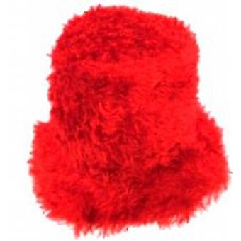 Flower Power Felt Hat - Red