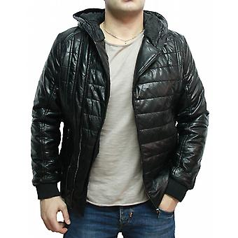 Waooh - faux leather jacket with hood Kero