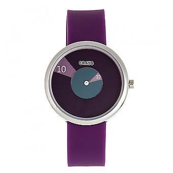 Crayo Pinwheel Unisex Watch - Purple