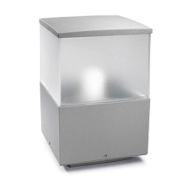 Cubik petit de plein air Bollard gris - Leds-C4 10-9386-34-M3