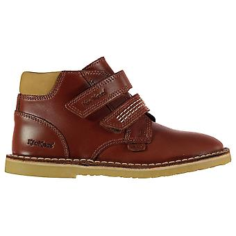 Kickers Kids Twin Strap Leather Childrens Boots