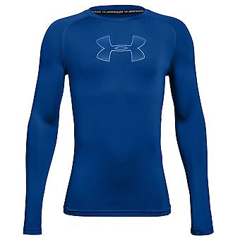 Under Armour HeatGear Armour Kids Long Sleeve Compression Baselayer Blue