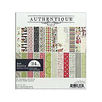 Authentique Paper 6x6 Paper Pad Vintage Christmas (VIN014)