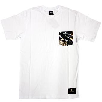 Oplichters & kastelen Timepiece Pocket T-Shirt Wit