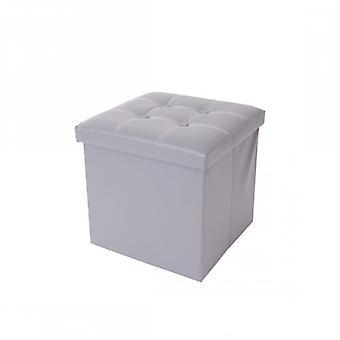 Rebecca Möbel-Ottoman-Container Puff Hocker graue Imitation Leder 38 X 38 X 38 38