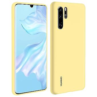 Huawei P30 Pro Soft-Touch Semi-rigid Silicone Case Yellow