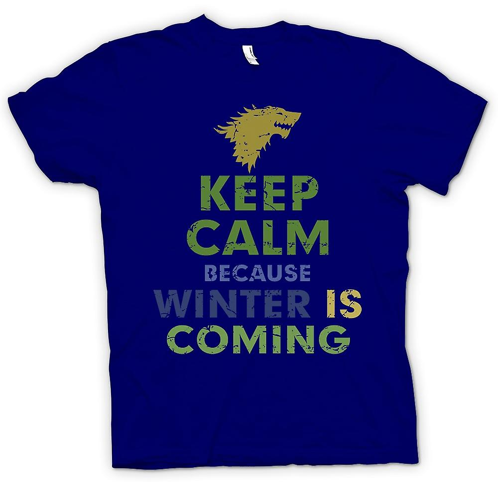 Mens T-shirt - Keep Calm Because Winter Is Coming