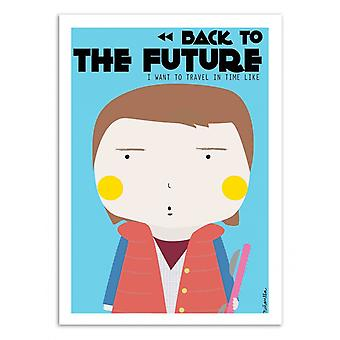 Art-Poster - Marty Mc Fly - Ninasilla 50 x 70 cm