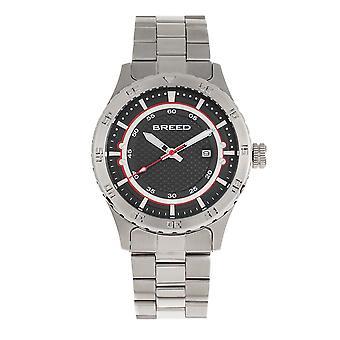 Breed Mechanic Bracelet Watch w/Date - Black