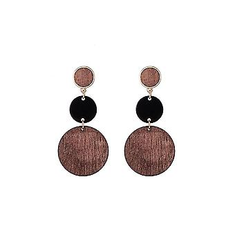 Jewelcity Sunkissed Womens/Ladies Multi Wood Disc Earrings