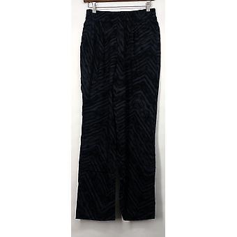 LOGO by Lori Goldstein Pants Regular Printed Challis Charcoal Gray A261125