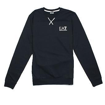 Ea7 Emporio Armani EA7 Contrast Stitching Crew Neck Sweatshirt Black
