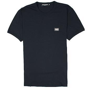 Dolce & Gabbana Metal Logo Rotondo Collo T-Shirt Nero