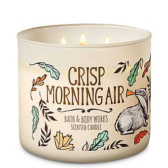 Bath & Body Works Crisp Morning Air 3  Wick Scented Candle 14.5 oz / 411 g