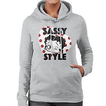 Betty Boop Freche Stil Frauen's Kapuzen Sweatshirt