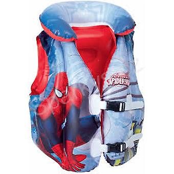 Bestway Chaleco Hinchable Spiderman 51 X 46 Cm, Edad 3-6 Anos