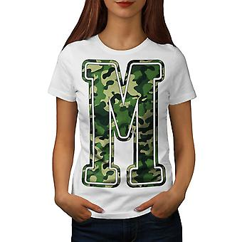 M for Millitary Fashion Women White T-shirt | Wellcoda