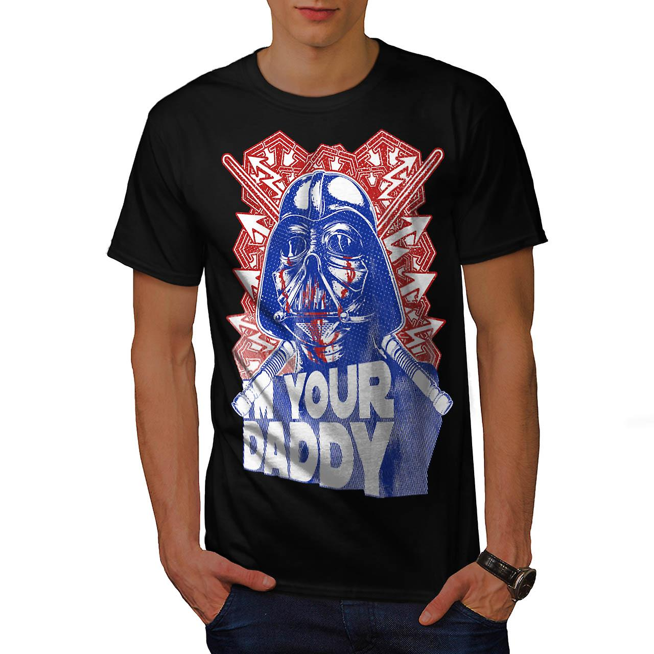 Darth Vader pappa Luke Dark Side menn svart t-skjorte | Wellcoda