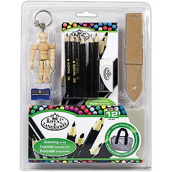 Mini Artist Sketching Set-16pc MS102
