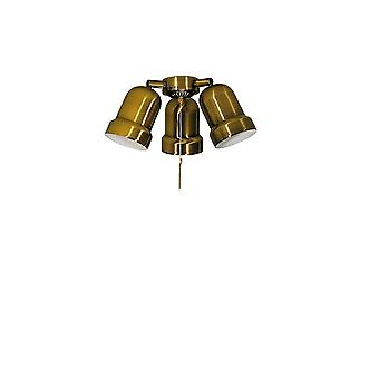 Add on light kit N 231 for Deko Elektro ceiling fans in brass