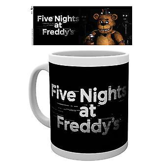 Cinco noches en el Freddys logotipo taza
